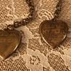 Heart lockets with Patriotic inscription