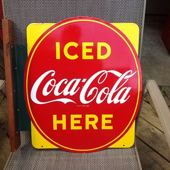 Canadian Coca-Cola Oval Flange Sign - Coca-Cola