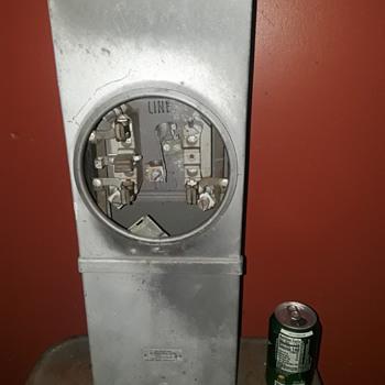 vintage WESTINGHOUSE electric METER SOCKET box - Electronics