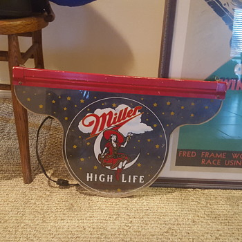 Vintage Miller High Life Sign - Breweriana