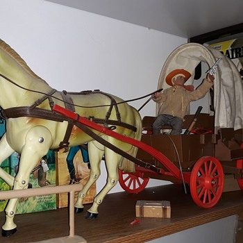 Gabriel Lone Ranger Horses Figures and Wagon and More! - Toys