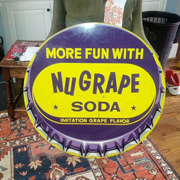 NuGrape soda sign NEED INFO - Signs