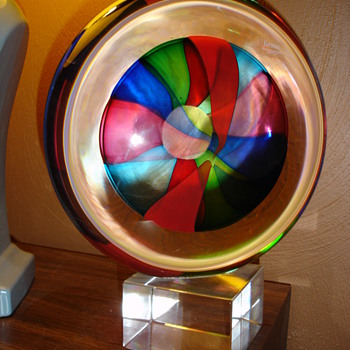 """Eye"" Lens Sculpture by Formia Vetri di Murano - Art Glass"