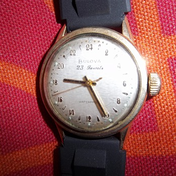 1950 23 jewel 24 hr military time Bulova man's wrist watch - Wristwatches