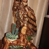 Oversized owl planter