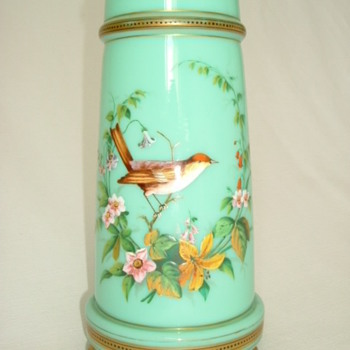 Harrach Enamelled Vase - Art Glass