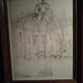 Pat Broderick original Batman art before he was famous - Comic Books