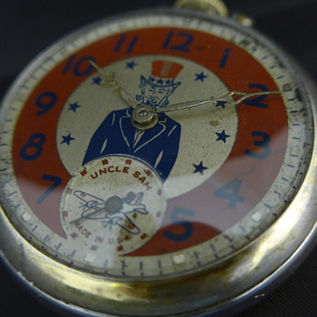 1942 Uncle Sam pocket watch by Ingraham - Pocket Watches
