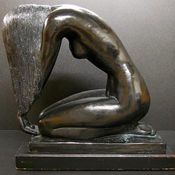 Nude 1985 Sculpture by Mort Malkin. An Austin 1985 Vintage Sculpture. - Fine Art