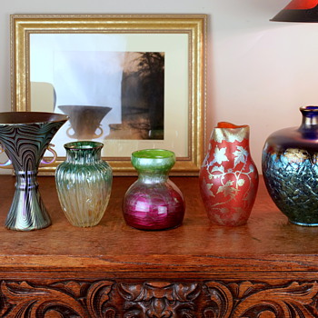 some of my favorite pieces of Loetz - Art Glass