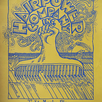 "1960's ""Hairpower Company Inc."" Greenwich Village St. Mark's Place Silkscreened Poster - Advertising"