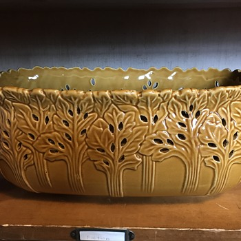 Tree motif Ceramic planter - Pottery