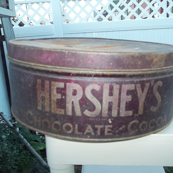 LARGE HERSEY'S CHOCOLATE COCOA TIN - Advertising