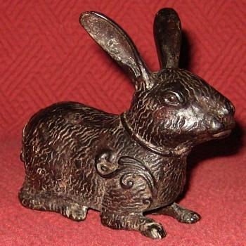 Vintage Bronze Chinese Rabbit - Animals