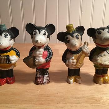 "Mickey and Minnie ""Musicians Set"" - 1933 - Figurines"