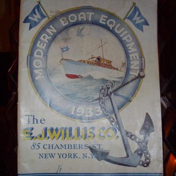 1933 Modern Boat Equipment Catalog. - Books