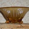 Bohemian Art Deco enamel glass bowl.