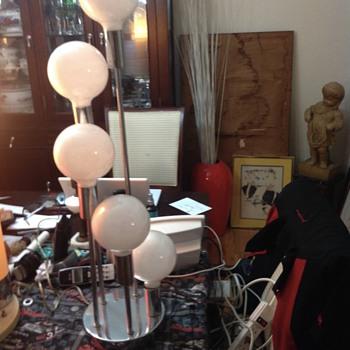 4 bulb table lamp Art Deco chrome  - Lamps