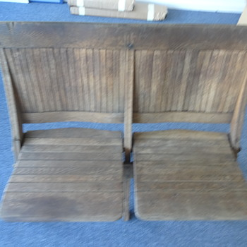 Oak folding seats Beach/School/Theatre? - Furniture