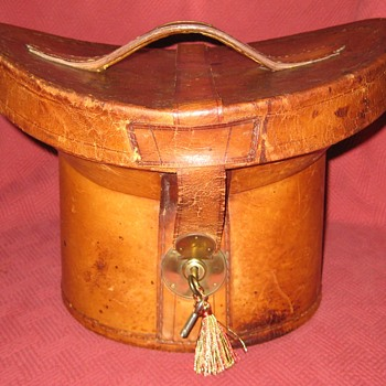 Late 1800's Top Hat Case - Hats