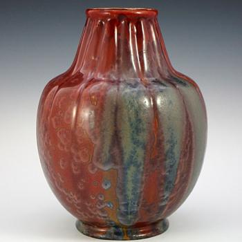 Rare 1910 Gabriel Fourmaintraux Desvres Vase