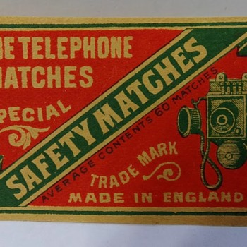 2 Matchbox Covers - Advertising