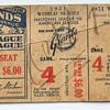 Ticket Stubb from the Giants 1951 World Series Game 4