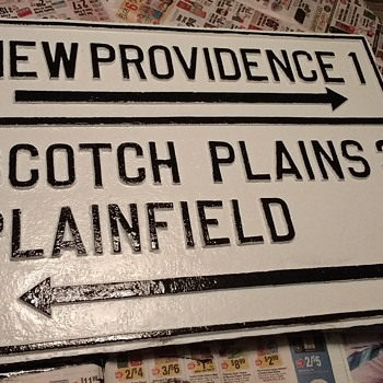 Restoration of my 1920s Union County NJ Directional Sign - Signs
