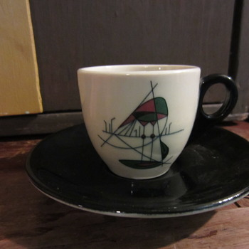 mid mod well of the sea-like cup & suacer  designer? - Mid-Century Modern