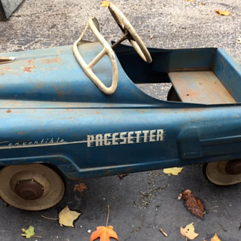 Pacesetter Convertible Unrestored Pedal Car - Toys