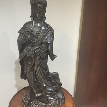 Buddha Wooden carved standing - Asian