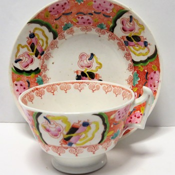 Georgian Cup and Saucer - London Shape 1815 - 1820 - China and Dinnerware
