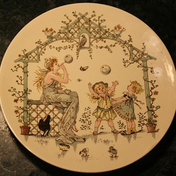 One of a set of 7 Sarreguemines Plates by Froment Richard - Pottery