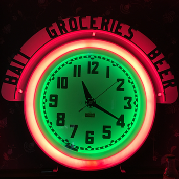 Four Neon Clocks in my collection  - Clocks