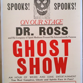Original 1930 Dr. Ross Ghost Show Letterpress Poster - Posters and Prints