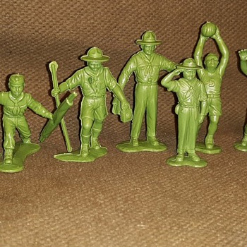 Saturday Evening Scout Post Marx Recast Boy Scout Figures - Sporting Goods