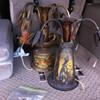 Vintage Brass Vase Lamps