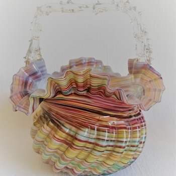 Welz Basket - Art Glass