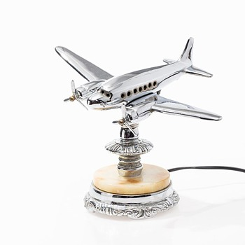 Canadian Table Airplane Lamp circa 1950 - Advertising