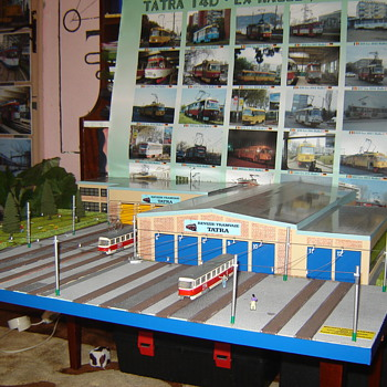 Tram depot diorama - Model Trains
