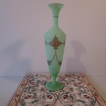 Tall Elegant Victorian Vase - Glassware