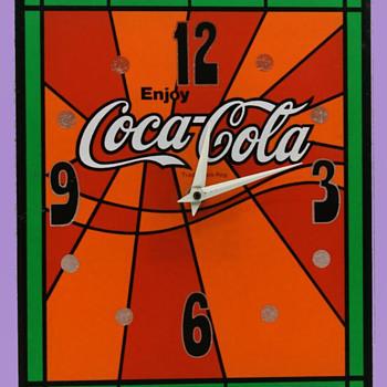Vintage Psychedelic 1970's Coca-Cola Clock  - Coca-Cola