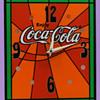 Vintage Psychedelic 1970's Coca-Cola Clock