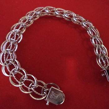 Vintage Charm Bracelet, Sterling Silver