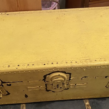 Yellow Painted Trunk - Furniture