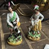 Male and female hunter? figurines w dog and goat