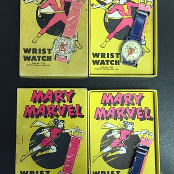 1948 Captain Marvel & Mary Marvel Wrist Watches in boxes - Wristwatches