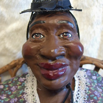 """Big Mama""  Clay / Ceramic Doll - Dolls"