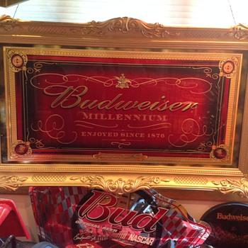 Budweiser Millennium mirror  - Breweriana