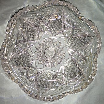 Help Needed to ID cut glass bowl